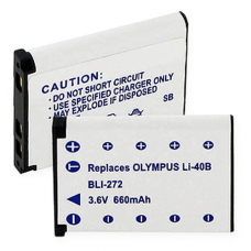 Olympus LI-40B 3.7v 660mah Li-Ion Digital Camera Battery, BLI-272