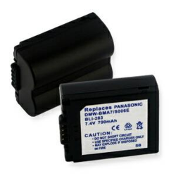 Panasonic CGA-S006 7.2V 700mAh Li-Ion Digital Camera Battery, BLI-283