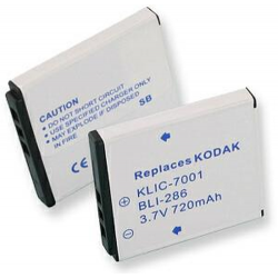 Kodak KLIC-7001 3.7v 720mah Digital Camera Battery, BLI-286