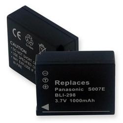 PANASONIC CGA-S007 3.7V 1000mAh Li-Ion Digital Camera Battery, BLI-298