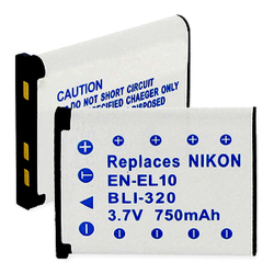 Nikon EN-EL10 750mAh Li-Ion Digital Camera Battery, BLI-320
