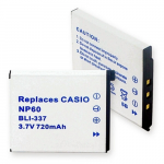 Casio NP-60 3.7V 720mAh Digital Camera Battery, BLI-337