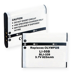 Olympus LI-50B 3.7V 925mAh Digital Camera Battery, BLI-339
