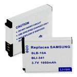 Samsung SLB10A 3.7V 1050mAh Digital Camera Battery, BLI-341