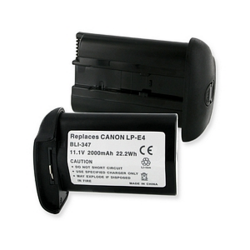 Canon LP-E4 11.1V 2000mAh Digital Camera Battery, BLI-347