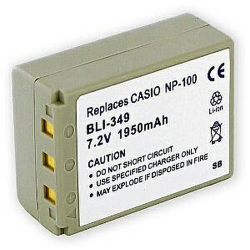 Casio NP-100 7.4V 1950mAh Rechargeable Digital Camera Battery, BLI-349