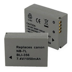 Canon NB-7L 7.4V 1050mAh Digital Camera Battery, BLI-356