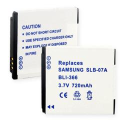 Samsung SLB-07A 3.7v 720mah Digital Camera Battery, BLI-366