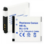 Canon NB-8L 3.6V 740mah Replacement Digital Camera Battery, BLI-378