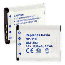 Casio NP-110 3.7V 1000mAh Digital Camera Battery, BLI-383