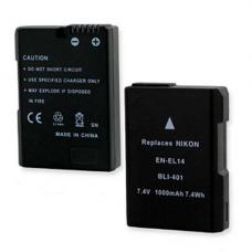 Nikon EN-EL14 7.4V 1000mAh Li-Ion Digital Camera Battery, BLI-401