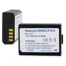 Canon LP-E10 7.4V 900mAh Lithium Ion Camera Battery, BLI-415