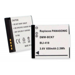 Panasonic Lumix DMC-FH2 3.6v 650mAh Li-Ion Battery, BLI-418