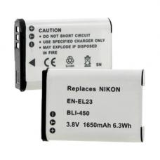 Nikon CoolPix P600 EN-EL23 3.8V 1650mAh Li-Ion Battery, BLI-450
