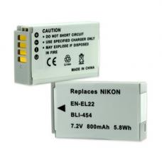 Nikon EN-EL22 7.2V 800mAh Li-Ion Digital Camera Battery, BLI-454