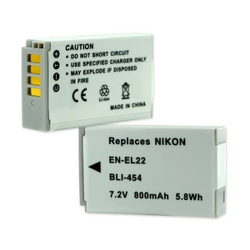 Nikon EN-EL22 7.2V 800mAh Li-Ion Digital Camera Battery, BLI-454