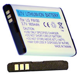 LG F9100 3.7v 900mah Cell Phone Battery, BLI-953-.9