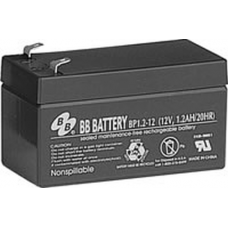 BB Battery, BP1.2-12T1, 12V 1.2Ah Sealed Lead Acid Battery