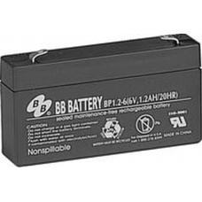 BB Battery, BP1.2-6T1, 6V 1.2Ah Sealed Lead Acid Battery