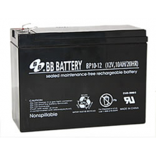 BB Battery, BP10-12T2, 12V 10Ah Sealed Lead Acid Battery