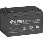 BB Battery, BP12-12T1, 12V 12Ah Sealed Lead Acid Battery