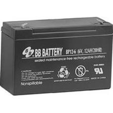 BB Battery, BP12-6T1, 6V 12Ah Sealed Lead Acid Battery, RBC3