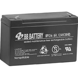 BB Battery, BP12-6T1, 6V 12Ah Sealed Lead Acid Battery, RBC3