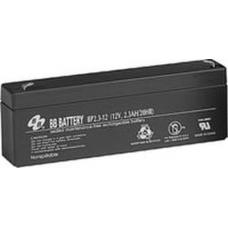 BB Battery, BP2.3-12T1, 12V 2.3Ah Sealed Lead Acid Battery