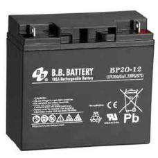 BB Battery, BP20-12B1, 12v 20ah Sealed Lead Acid Battery