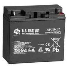 BB Battery, BP20-12B1, 12v 20ah Sealed Lead Acid Battery