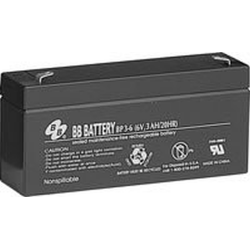 BB Battery, BP3-6T1, 6V 3Ah Sealed Lead Acid Battery