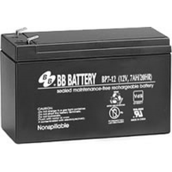 BB Battery, BP7-12T1, 12V 7Ah Sealed Lead Acid Battery, RBC2