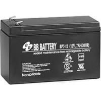BB Battery, BP7-12T2, 12V 7Ah Sealed Lead Acid Battery