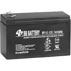 BB Battery, BP7-12T2, 12V 7Ah Sealed Lead Acid Battery