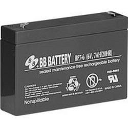BB Battery, BP7-6T1, 6V 7Ah Sealed Lead Acid Battery