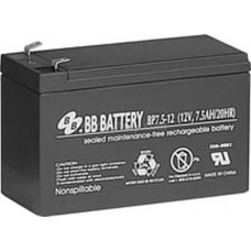 BB Battery, BP7.5-12T2, 12V 7.5Ah Sealed Lead Acid Battery