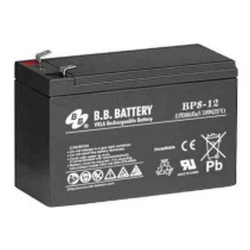 BB Battery, BP8-12T1, 12V 8Ah Sealed Lead Acid Battery