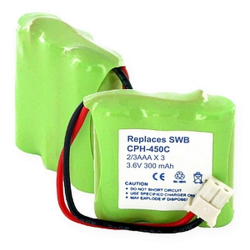 Empire Northwestern Bell 32880 3.6V 300mAh NiCad Cordless Phone Battery, CPH-450C