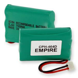 Empire AT&T 27910 3.6V 700mAh NiMH Cordless Phone Battery, CPH-464D