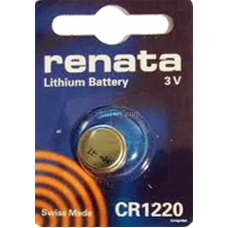 Renata CR1220 Coin Cell 3v Lithium Battery 1/card, CR1220
