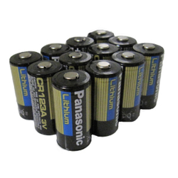 Panasonic CR123A 3V Lithium Digital Camera Battery, 12 pack, CR123APA-12