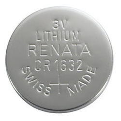 CR1632 Renata 3v Lithium Coin Cell 1/card, CR1632SC