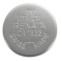 CR1632 Renata 3v Lithium Coin Cell 1/card, CR1632SC