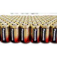 Panasonic CR2 3V Lithium Photo Battery Bulk, Tray of 200