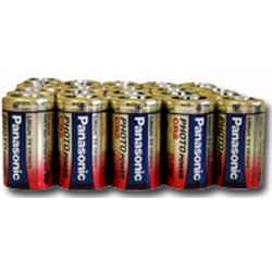 Panasonic CR2 3V Lithium Photo Battery, 25 Pack