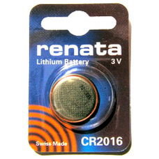 CR2016 Renata 3v Lithium Coin Cell 1/card, CR2016SC