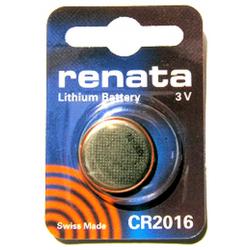 CR2016 Renata 3v Lithium Coin Cell 1/card, CR2016SC