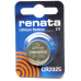 Renata Coin Cell 3v Lithium Battery, 1/card CR2025CU