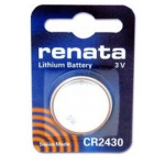 Renata Coin Cell 3v Lithium Battery, 1/card CR2430CU