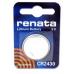 Renata Coin Cell 3v Lithium Battery, 1/card CR2430CU